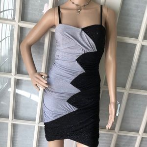 City studio NWT Super sexy blk/slvr body con dress